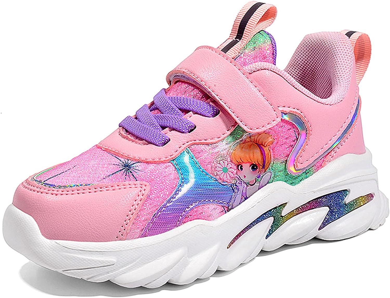 JUBAIYUAN Girls Sweet Velcro Sneakers Casual All-Match Walking Shoes Trendy Fashion Running Shoes