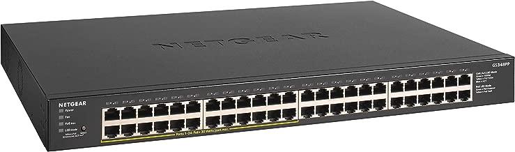 $399 » NETGEAR 48-Port Gigabit Ethernet Unmanaged PoE+ Switch (GS348PP) - with 24 x PoE+ @ 380W, Desktop/Rackmount, Sturdy Metal