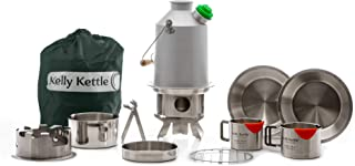 Kelly Kettle Scout 41 oz. Anodized Aluminum Ultimate Kit (1.2 LTR) Rocket Stove Boils Water Ultra Fast with just Sticks/Twigs. for Camping, Fishing, Scouts, Hunting, Emergencies, Hurricanes, Tornados