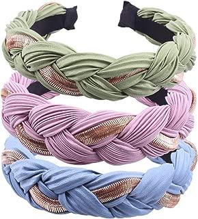 GUNIANG Wide Headbands Knot Turban Hairband Vintage Head Wrap Braid Elastic Hoops Fashion Hair Accessories for Women