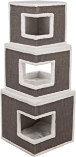 Lilo Cat Tower, Gray, Modular, 3-Story Condo, Sisal Scratching Surface