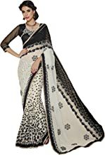 Best black and white net saree Reviews
