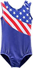 BAOHULU Gymnastics Leotards for Toddler Girls Patriotic Sparkle Red Blue Athletic Dancewear