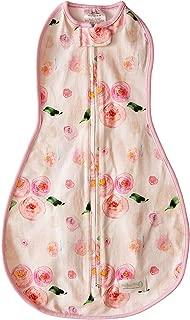 Woombie Original Baby Swaddling Blanket, Watercolor Roses, 5-13 lbs
