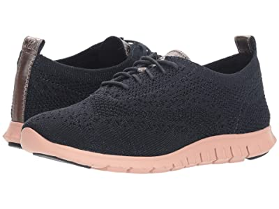 Cole Haan Zerogrand Stitchlite Winterized Oxford (Blueberry Knit/Misty Rose) Women