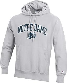 NCAA mens NCAA Men`s Reverse Weave Gray Arch Long Sleeve Hooded Sweatshirt