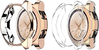 Greaciary Soft TPU Cover Compatible for Samsung Galaxy Watch 42mm Case 2018(for SM-R815 and SM-R810),2Pack Shockproof Case Cover Bumper Protector Rose Gold