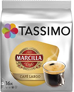 Tassimo Marcilla Cafe Largo Large Breakfast Coffee Capsules T-Discs 5 Pack, 80 Drinks