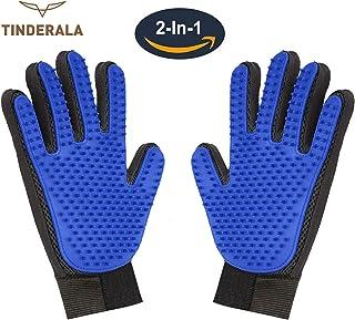 ideal für Hunde und K... Venteo Pet Glove 5Finger-Bürsthandschuh für Haustiere