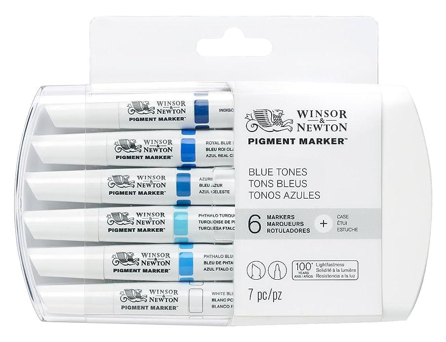 Winsor & Newton Pigment Marker Blue Tones 6 Set