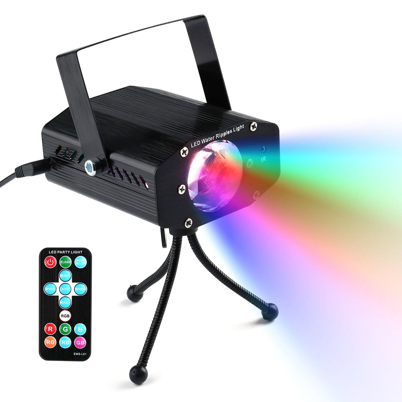 lederTEK 5W Luz Mini Proyector de Escenario, Efecto Onda de Agua ...