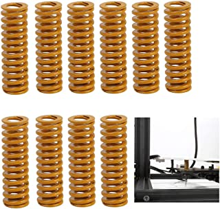 Creality Original 3D Printer Parts 8mm OD 25mm Length Compression Mould Die Springs Light Load for Heated Bed Ender 3 CR-10 CR-10Mini CR-10S/S4/S5 Series 3D Printer (Pack of 10)
