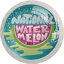 Lade handgrepen trekken decoratieve kast knoppen dressoir lade handvat 4 stuks,nationale watermeloen dag