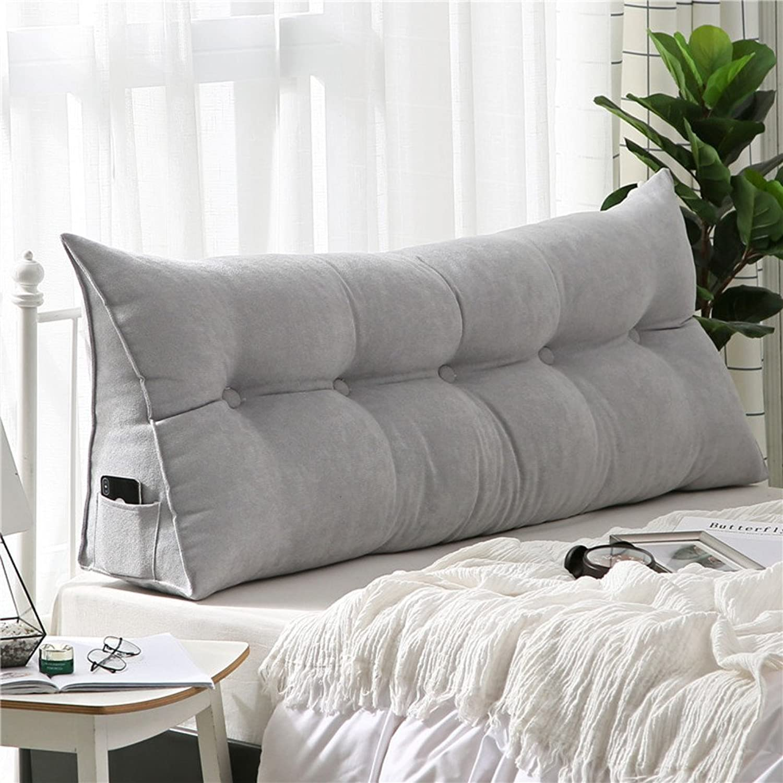LIUSHIJITUAN Plush, Cushion Bed Back Cushion-B 150x50x20cm(59x20x8inch)