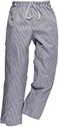 pantalon de cuisine coton élastiqué - - XL -Bleu (