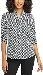 NYC Women's Pinpoint Non-Iron Stretch Poplin Shirt