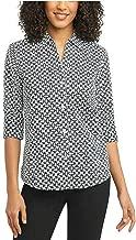 Foxcroft NYC Women's Pinpoint Non-Iron Stretch Poplin Shirt