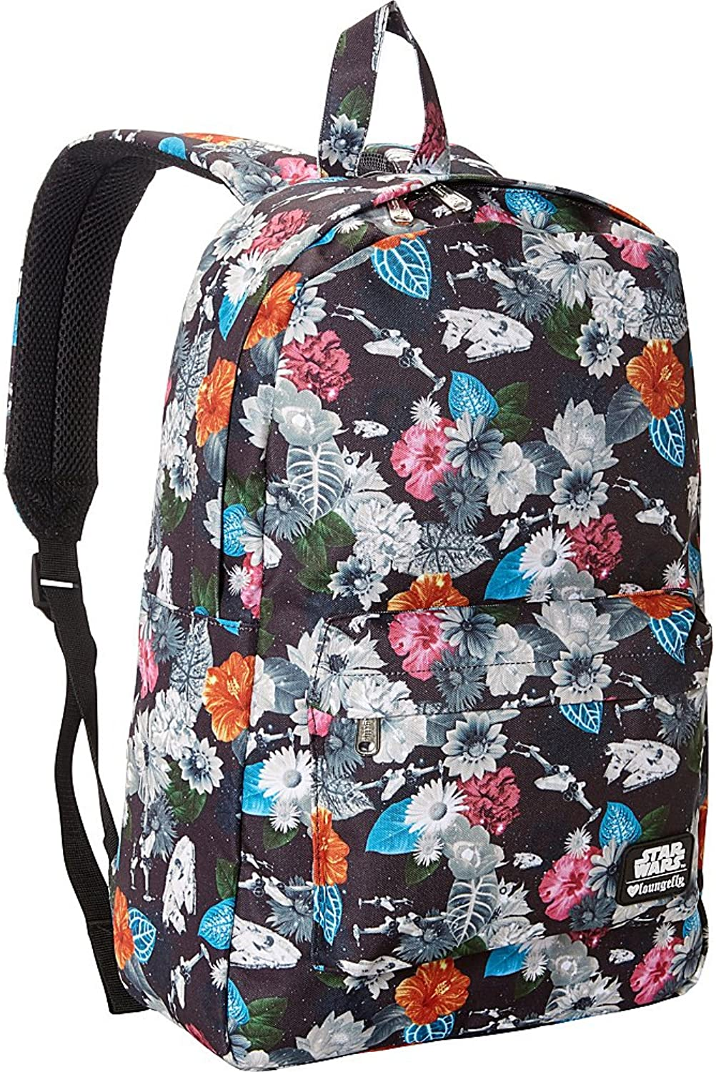 Loungefly Star Wars Floral Print Laptop Backpack (Multi colord)