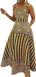 VERWIN Patchwork Square Neck Sleeveless Stripe Women's Maxi Dress Floor-Length Geometric Cocktail Dress