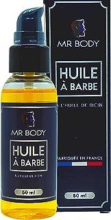 Huile à barbe à l'huile de ricin, d'amande douce, d'argan et de soja Mr Body 50ml | entretien soin barbe parfum homme bear...