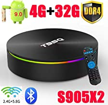 Android 9.0 TV Box T95Q Amlogic S905X2 with DDR4 4GB RAM 32GB ROM 4K Ultra HD H.265 Dual Band WiFi Bluetooth 4.0 Media Box 2.4/5Ghz WiFi 100M LAN