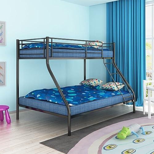 Lingjiushopping Etagenbett für Kinder 200 140 200 90cm   Metall SchwarzAbmessungen  210 147,5 152  (L x T x H)