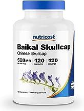 Nutricost Baikal Skullcap 500mg, 120 Capsules - 1000mg Per Serving, Vegetable Capsules, Non-GMO, Gluten Free