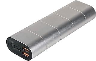 Verbatim Powerbank - 20.000 mAh, Quick Charge 3.0 & USB-C, dubbele batterij, USB-A naar micro-B USB-kabel, zilver