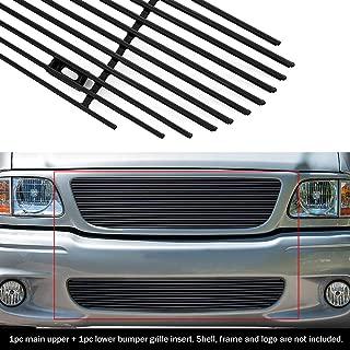 APS Compatible with 99-03 Ford F-150 Lightning Black Billet Grille Combo F87932H