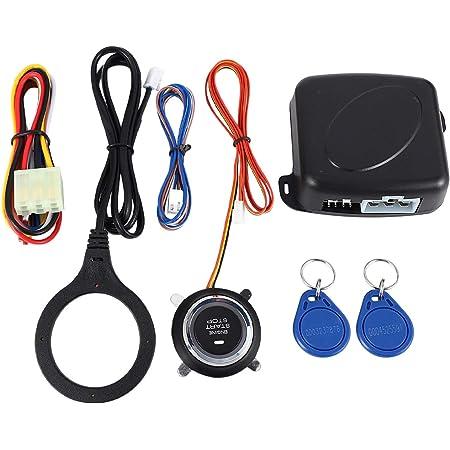 Semoic Smart Rfid Auto Alarmanlage Push Motor Start Stop Taste Sperre Zuendung Wegfahrsperre Mit Keyless Remote Go Einstiegssystem 12 V Auto