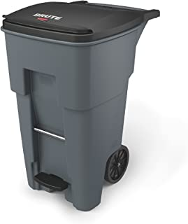 Rubbermaid Commercial 1971968 Brute Step-On Rollout Trash Can, 65 gal/246 L, 44.740