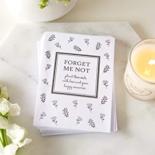 ANGEL & DOVE 25 Unfilled Forget-Me-Not Seed Packet Funeral Favor Envelopes