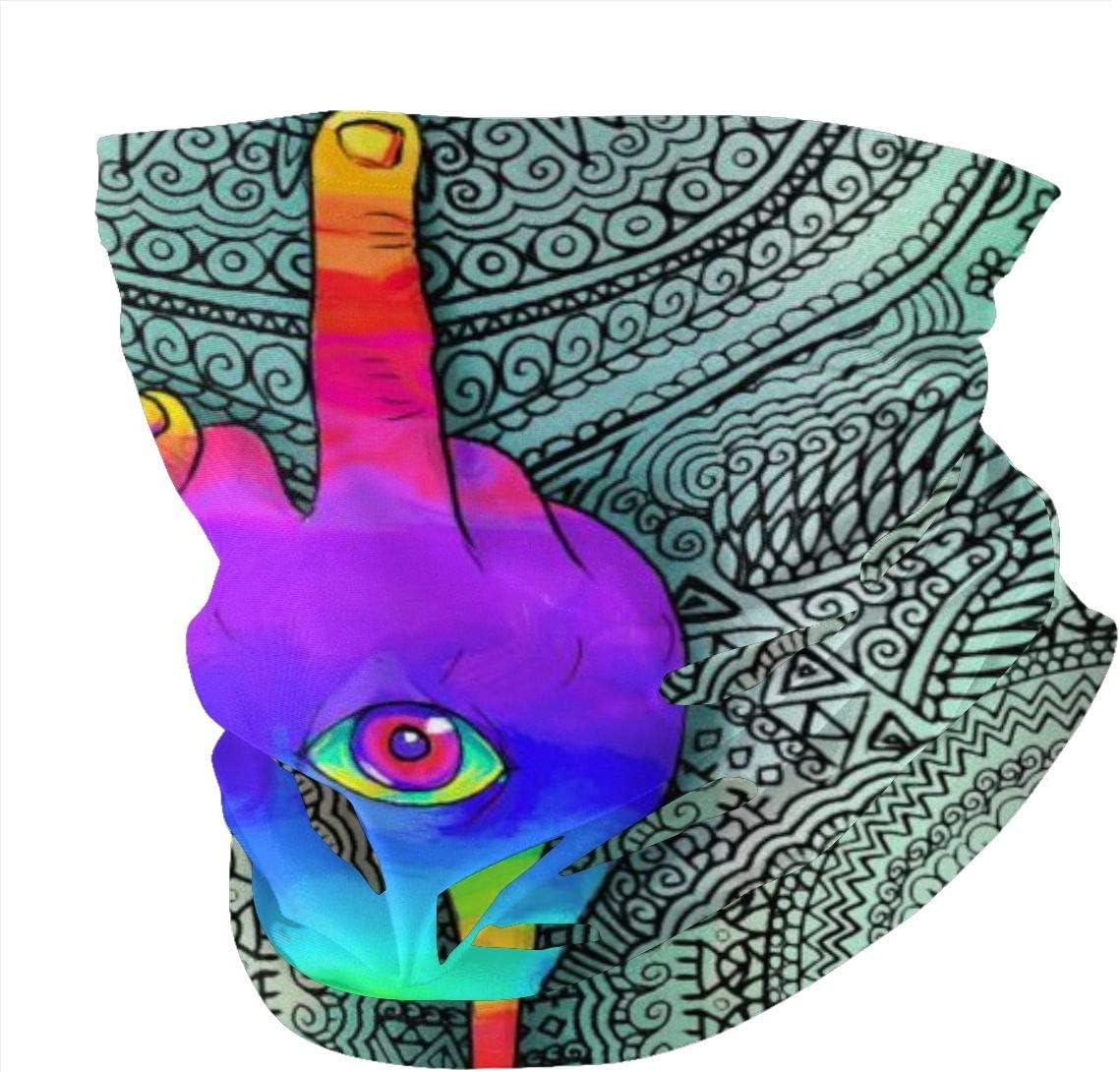 Balaclava Sun Protection Face Mask - Sexy Girl Middle Finger Trippy Mandala Motorcycle Mask Neck Gaiter Neck Gaiter Head Bands Neck Warmer Men Headband Neck Gaiter