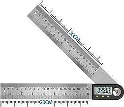 Winkelmesser Digital Winkellineal mit LCD-Anzeige Edelstahl Winkelmessung für Holzarbeiten Heimarbeit Handwerker Kreissäge,360° Winkel Messen,Hold Funktion,400MM style 1