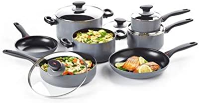 OXO Softworks Cookware Set, 12 Piece, Gray