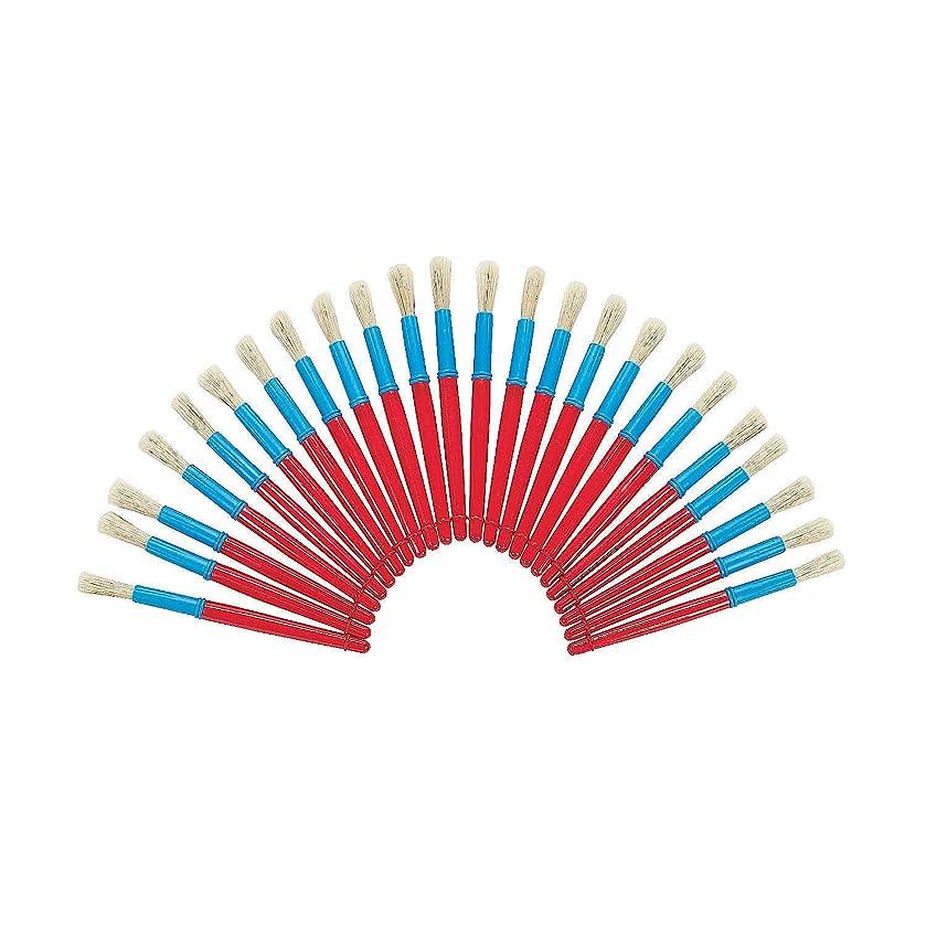 Fun Express - Jumbo Chubby Brushes 24 Pcs - Basic Supplies - Paint & Supplies - Paint Applicators - 24 Pieces
