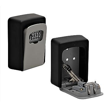 Caja fuerte para llaves con código numérico para montaje en pared en interiores y exteriores: Amazon.es: Bricolaje y herramientas