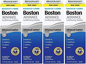 Bausch and Lomb Boston Advance STEP 2 Conditioning Solution for Hard Rigid Gas Permeable Contact Lenses 3.5 oz - Pack of 4
