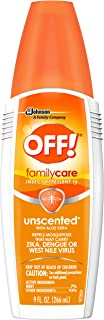 OFF! Family Care Insect & Mosquito Repellent, Unscented with Aloe-Vera, 7% Deet 9 oz.