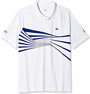 Lacoste Men's Sport Novak Djokovic Short Sleeve Ultra Dry Graphic Polo