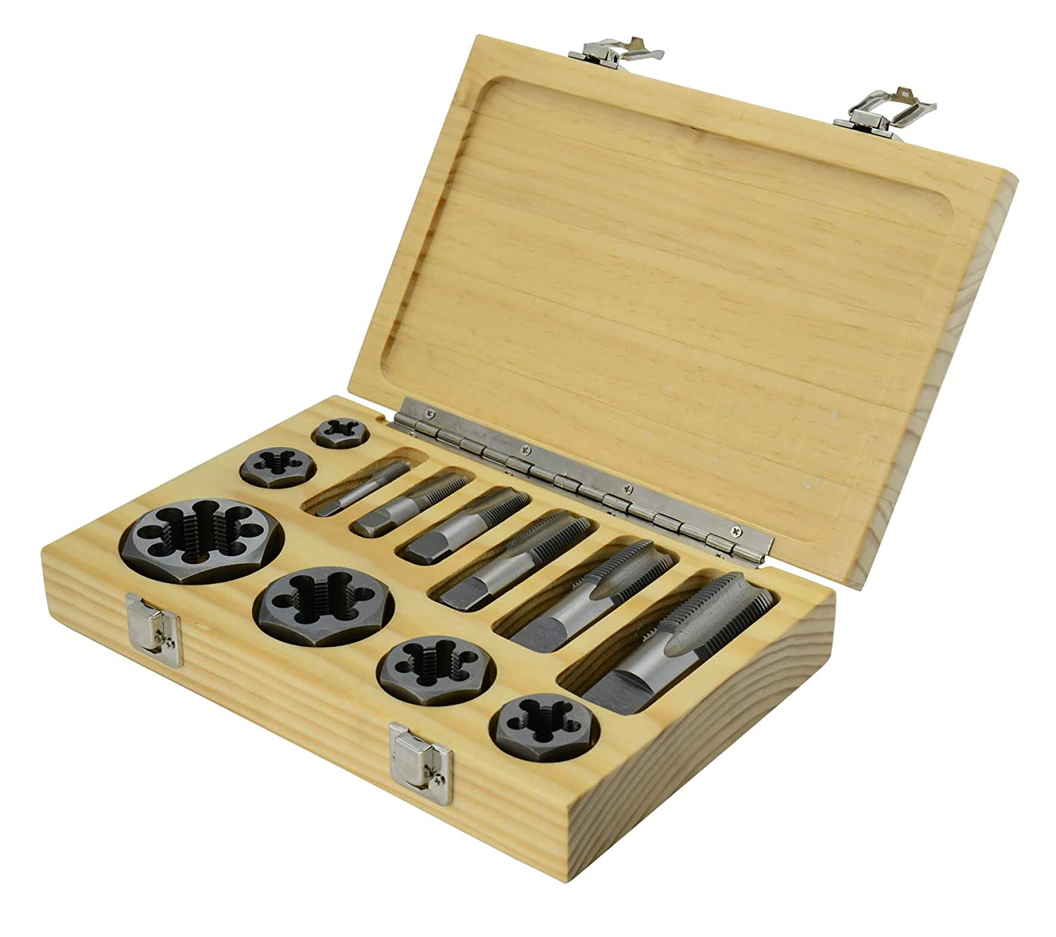 Drill Be super welcome America 12 Piece Carbon Steel NPT Die Pipe Max 58% OFF Set 1 and Tap