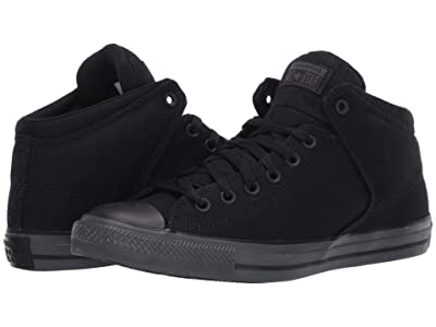 Converse Chuck Taylor All Star High Street Mid (Black/Black/Almost Black) Athletic Shoes
