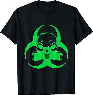 Cyber goth clothing Biohazard Gas Mask Tshirt