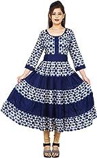 AnjuShree Choice Women Stitched Printed Cotton Anarkali Kurti