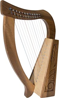 Roosebeck Baby Harp 12 String Walnut + Extra String Set & Tuning Tool