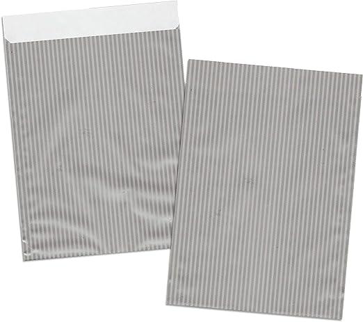 5, 13x18+2 cm aPlus-Papiertueten Geschenk-Flachbeutel Schmuck-T/üten Sterne wei/ß Weihnachten Advent Geschenkbeutel