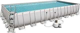 Bestway 56623de GS19Power Steel Rectangular Pool 956X 488X 132cm, Marco de Acero de Piscina Set con Filtro de Arena y...