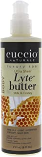 Cuccio Lyte Body Butter, Honey and Soy Milk, 8 Ounce
