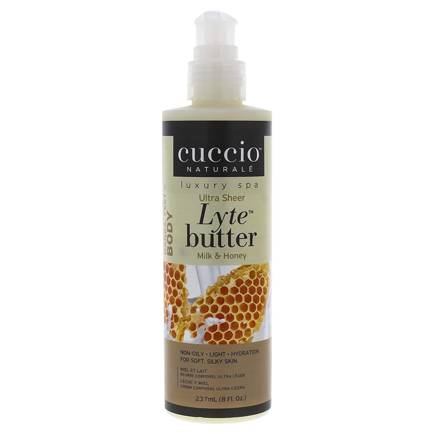 投げ捨てる請求書上へCuccio Lyte Body Butter, Honey and Soy Milk, 8 Ounce by Cuccio