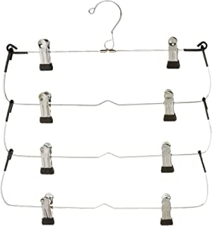 Organize It All 4 Tier Folding Skirt/Slack Hanger with Clips